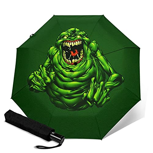Paraguas automático de tres pliegues para adultos unisex impreso manual paraguas portátil