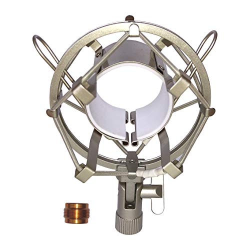 LYRCRO Universal Microphone Shock Mount for 20mm-23mm Diameter Instrument Condenser Mic