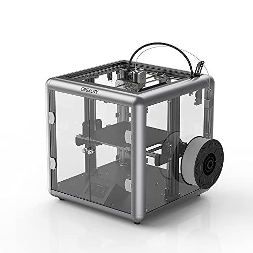 ASPZQ Sermoon D1 3D Printer Fully Enclosed FDM All-Metal Extrusion Smart Sensor 3D Printer Transparent Design Silent Mainboard (Size : 200-240V)