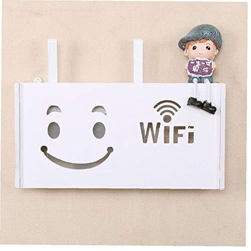 Hogar Wireless Router WiFi Caja De Madera-plástico Estante De La Pared Que Cuelga Junta Soporte De Conector Caja De Almacenamiento
