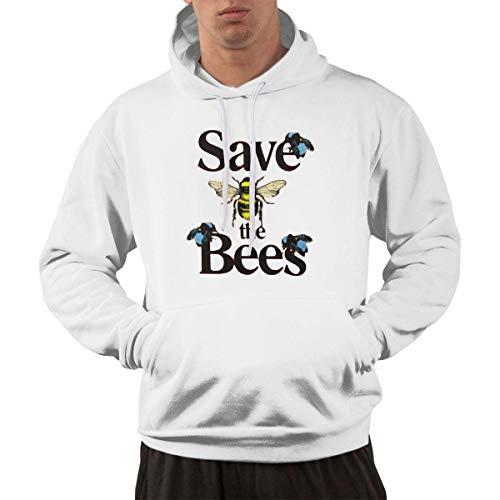 Tengyuntong Hombre Sudaderas con Capucha, Sudaderas, Men's Pullover Hooded Sweatshirt - Save The Bees Tyler The Creator