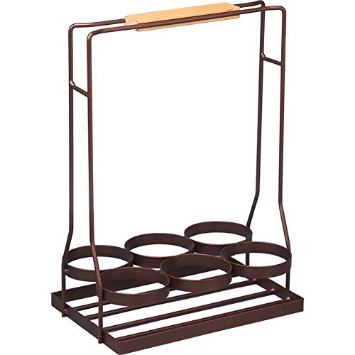 KANJJ-YU Estante de vino de madera, portátil, soporte de escritorio, 24,4 x 16 x 34 cm para almacenamiento de vino