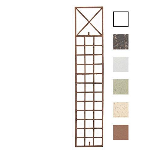 CLP Metall-Rankgitter Trigo zur Wandbefestigung I Rankhilfe für die Wand I Rankzaun aus lackiertem Metall I erhältlich, Farbe:antik braun