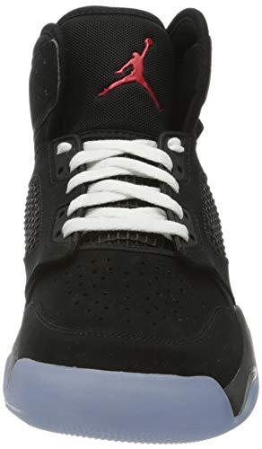 Nike Jordan Mars 270, Zapatillas de básquetbol Hombre, Black/Reflect Silver-Fire Red-White, 45.5 EU