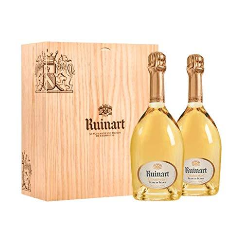 Ruinart Coffret Caisse Bois Duo Blanc de Blancs - Champagne AOC - 2x75cl
