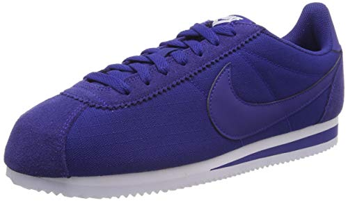 Nike Classic Cortez Nylon, Scarpe da Running Uomo, Blu (Deep Royal Blue/Deep Royal Blue/White 407), 49.5 EU