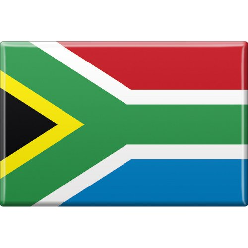 Kühlschrankmagnet - Länderflagge Südafrika - Gr.ca. 8x5,5cm - 37830 - Magnet