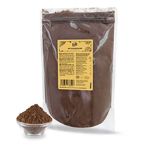KoRo - Cacao in polvere senza zucchero 1 kg - cacao magro vegano, 100% cacao amaro, da agricoltura biologica, solo 11% grassi, senza additivi, conveniente