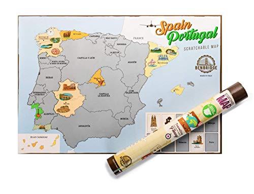 ESPAÑA by Benbridge - Mapa de España para Rascar - ¡Rasca los lugares a los que viajes!