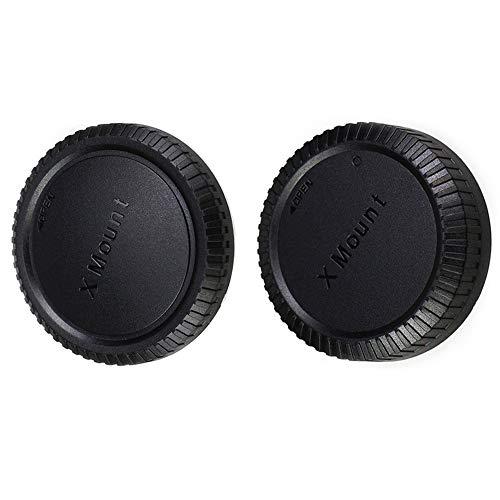JJC Gehäusedeckel + Objektivdeckel (hinten) für Fujifilm X-Mount Mirrorless Kameras & Fujifilm X Mount-Objektiv (1 Set)