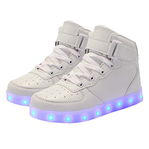 Holibanna LED Light Up Shoes Kids Flashing High-top Sneakers USB Charging Sports Trainers for Boys Girls