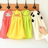 MonLiya Juego de 4 Toallas de Microfibra absorbentes para niños con Formas de...