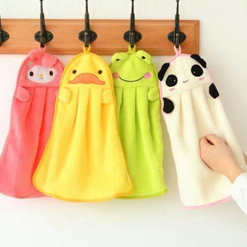 MonLiya Mikrofaser-Handtücher für Kinder, in niedlicher Tierform, saugfähig, hübsche Handtücher für Küche und Bad
