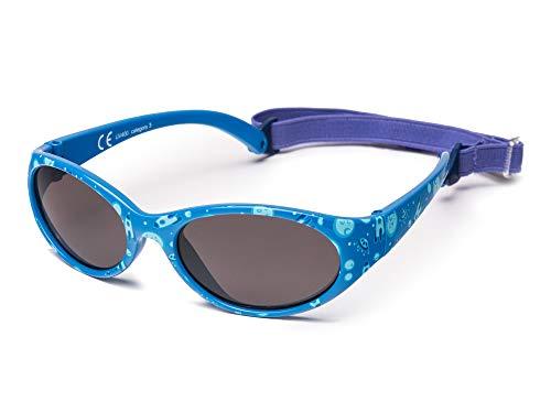Kiddus Sonnenbrille Kids Comfort Junge und Mädchen. Alter 2 bis 6 Jahre. Total Flexible Modell für Extra Komfort. Mit Band und sehr Resistent. 100% UV-Schutz. Nützliches Geschenk