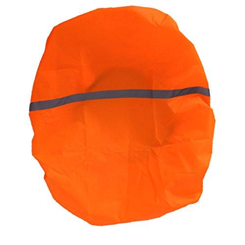 Homyl Rucksack Regenschutz Rucksack Schulranzen Regenschutzhülle wasserabweisend mit Reflexstreifen - Orange