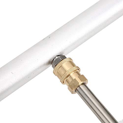 Limpiador de escoba de agua, lavadora a presión de tren de rodaje con varilla de 2 piezas, doble función en forma de abanico para máquina de limpieza a alta presión Lavadora a presión
