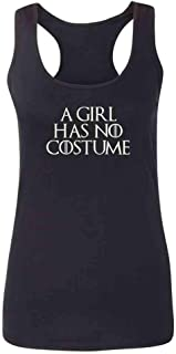 A Girl Has No Funny Halloween Costume Fashion Tank Top Tee for Women