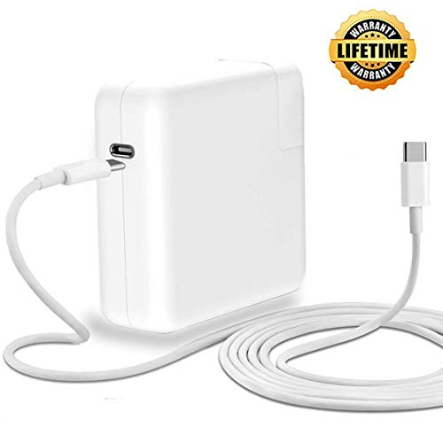 87W USB C Charger Mac Book Pro Charger,USB-C Power Adapter Thunderbolt 3 Ports Replacement Charger for Mac Book Pro 13 and 15 Inch with Type C Charge Cable(After 2016)