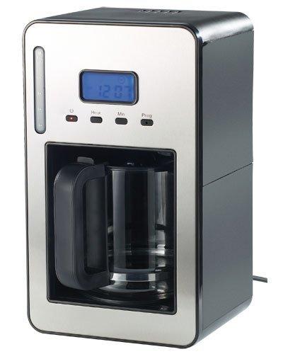 Rosenstein & Söhne Kaffeeautomaten: Programmierbare Kaffeemaschine für bis zu 12 Tassen, 1.000 Watt (Kaffeemaschine mit Timer)