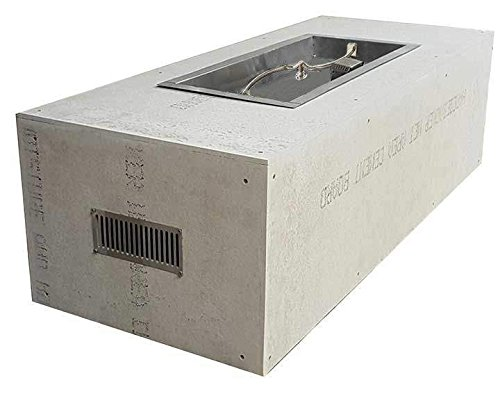 Best Review Of Hearth Products Controls Rectangular Unfinished Gas Fire Pit Enclosure with Electroni...