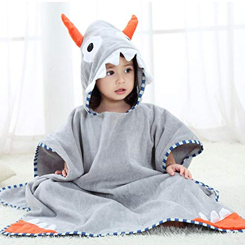 Toalla de baño infantil con capucha, diseño de foca
