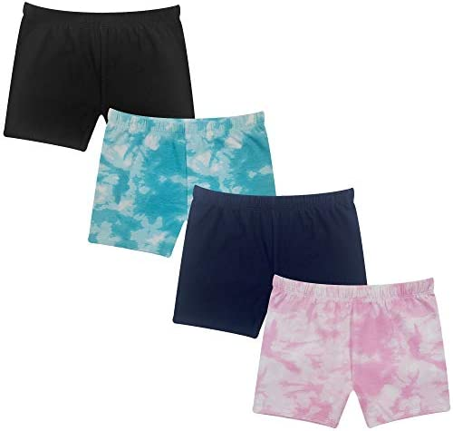The Popular Store Girl s Cotton Under Dress Shorts 4 Pack Tie Dye Set L 10 12 product image