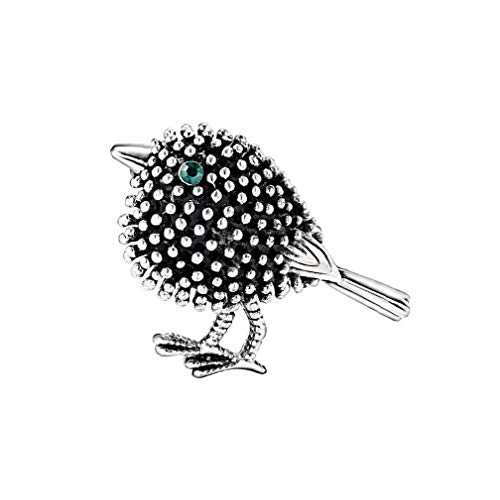 Vintage Gorgeous Bird Unisex Fashion Brooch Christmas Brooch Pin Gift Metal Sliver for Convenience