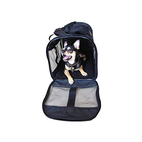 JXLBB Sac noir pliable pour animal de compagnie Sac pour chien dehors Sac pour chat extérieur Sac pour chien dehors Sac respirant léger tout en acier design anneau Durable et léger usine Ventes direct