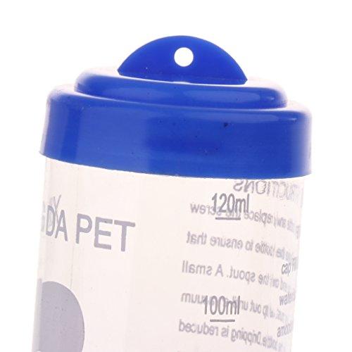 perfk Haustier Wasserflasche Automatische Trinkflasche Hängender Wasserspender für Hamster Ratten Meerschweinchen Frettchen Kaninchen (125ML) - 2