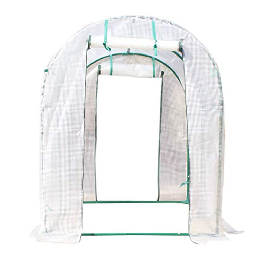 Serres de Jardin Tunnel Pelouse portative de Plain-Pied, de Jardin avec l'irrigation par égouttement La Fleur d'intérieur/extérieure fleurit la Couverture PE de Fermeture à glissière enro