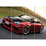 NISSAN SKYLINE R34 RED SPORTS RALLY CAR GIANT PICTURE ART PRINT POSTER AFFICHE MR451