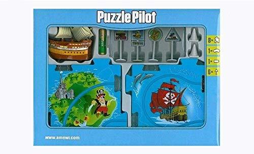 Monkey's Pilot Puzzle – Piraten – Puzzle mit Rennstrecke und Fahrzeug