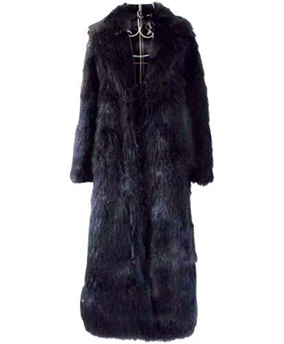 NANXCYR Dames Extra Lange Bontjas Dames Overjas Winterjas Lange Mouw Faux Bont Warm Tops Bovenkleding