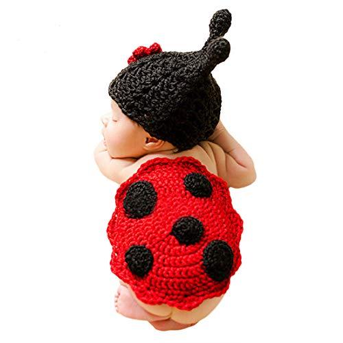 Adorel Baby Fotoshooting Kostüme Set Tiere Marienkäfer Mütze & Decke