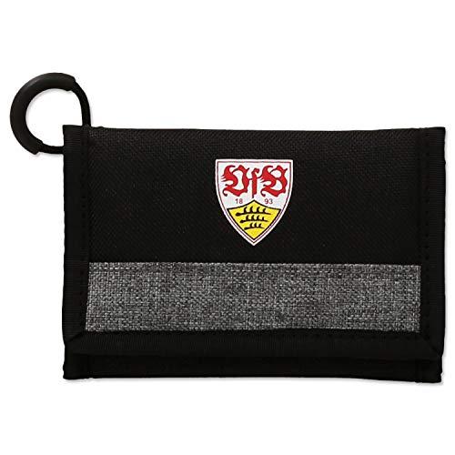 Stuttgart VfB Geldbeutel/Geldbörse schwarz/grau Wappen mit vielen Fächern