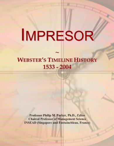 Impresor: Webster's Timeline History, 1533 - 2004