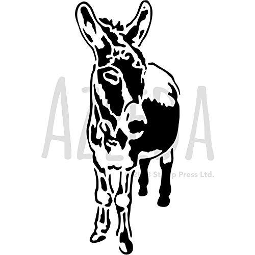 Azeeda A4 'Freundlicher Esel' Wandschablone / Vorlage (WS00022091)