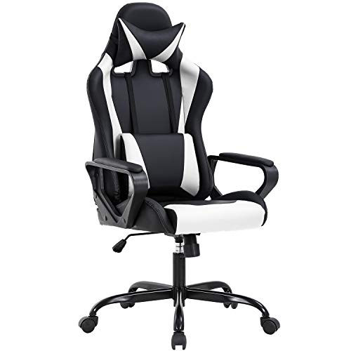 High Back Gaming Chair PC Office Chair Racing Computer Chair Task PU Desk Chair...