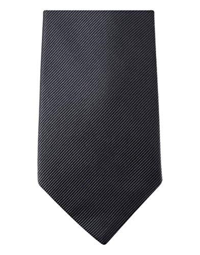 David Van Hagen Charbon Diagonal côtelé cravate de