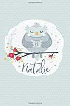 Natalie: Personalized Name Notebook | 6x9 Blank Lined Journal College Rule (Whimsical Owl Diaries)