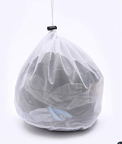 Mesh Laundry Bag - Sturdy Mesh Material with Drawstring Closure Ideal Machine Washable Mesh Laundry Bag for Factories College Dorm and Apartment Dwellers 196×275 inch