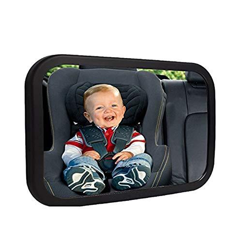 100/% irrompible totalmente ajustable Espejo de coche para beb/és instalaci/ón r/ápida negro negro correas de fijaci/ón antitemblores Onco