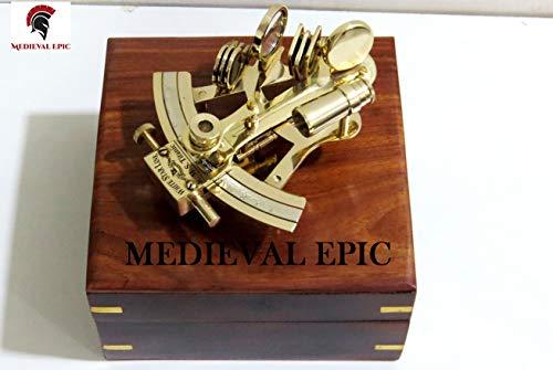 Medieval Epic - Sextante de latón con Forma de Estrella Blanca de 5 cm con Caja