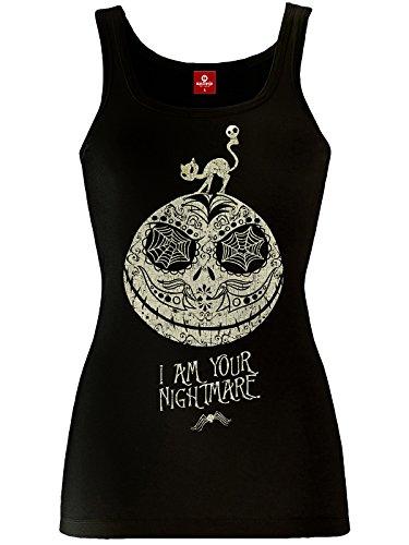 Camiseta de tirantes de Pesadilla antes de Navidad Nightmare Lady color negro de algodón - XL
