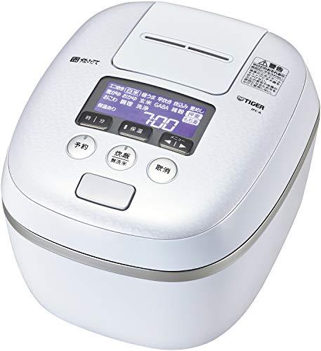 タイガー魔法瓶(TIGER) 炊飯器 5.5合 圧力IH 熱流&熱封土鍋コーティング 炊きたて アーバンホワイト JPC-A102WE