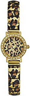 Guess Dress Watch for Women, Stainless Steel Case, Animal Print Dial, Analog -W0887L1