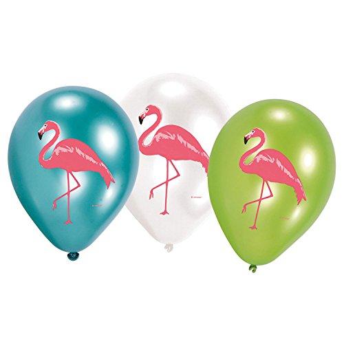 Amscan 10119938 9903333 Luftballons Set Flamingo Paradies 6teilig