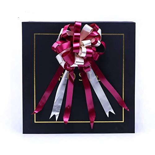 LXHANSPF-lead 4.5cm Flor de tirón de Cinta 20 unids/Lote Flor de Bola de Nudo de Mariposa de Dos Colores Envoltura decoración de Fiesta de Boda