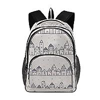 ランドセル 子供リュック ヨーロッパ 建物 リュックサック 通塾 小学生 バックパック 15.6インチPCバック USB充電ポート付き 通学 おしゃれ 高校生 アウトドア 旅行 軽量 人気 ビジネス 大容量 鞄 機能的 女の子 男の子