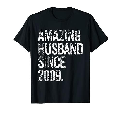 Amazing Husband Since 2009 12 Years Wedding Anniversary T-Shirt